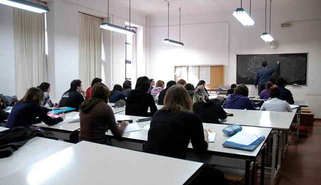 Aula de dibujo técnico. Escuela de Arte la Palma