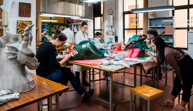 Taller de policromía Escuela de Arte La Palma