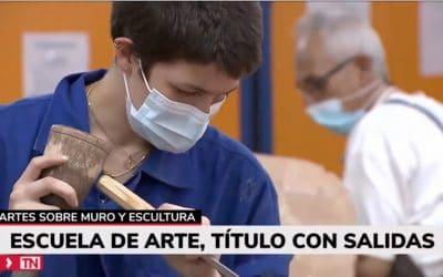 Telemadrid en la Escuela de Arte La Palma