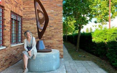 Donación de escultura al I.E.S. Valmayor (Valdemorillo)