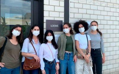 Visita de los alumnos de Complementos en Cuero a LOEWE